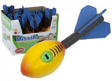 "7"" FLYING FOAM ROCKET WITH SOUND KIDS TOY GAME WHISTLING PARTY BAG FILLER"