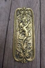 Solid Brass Decorative Finger Plate Push Door Angel / Cherub Design Unique