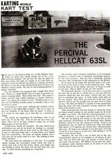 New! Vintage 1963 Percival Hellcat 63SL Go-Kart Test Report 3 Pages
