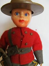VINTAGE all PLASTIC ROGARK WALES DOLL CANADIAN ROYAL MOUNTY OUTFIT 6""