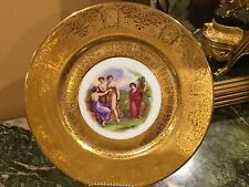"""Royal China 22K Gold Encrusted Cabinet Plate by Angelica Kauffman 10.25"""""""