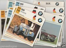 LOT 45 FICHES GLACEES GERMANY  BMW AUTOMOBILE VOITURE CAR 1929 à 1992