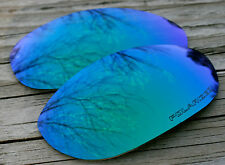 Jade Green Blue Polarized Replacement Sunglass Lenses for Oakley Monster Dog