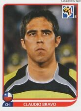 N°621 CLAUDIO BRAVO # CHILE STICKER PANINI WORLD CUP SOUTH AFRICA 2010