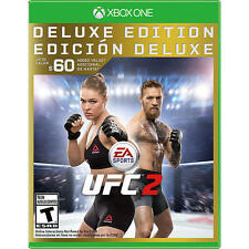 Xbox one 1 UFC 2 DELUXE Ultimate Fighter NEW Sealed REGION FREE RHONDA ROUSEY
