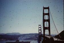 GOLDEN GATE BRIDGE  NAVY SHIP  VINTAGE  35MM SLIDE