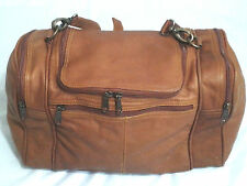Colombian Leather Brown Duffle Overnight Carry On Weekender Duffel Bag
