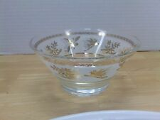 "Vintage Libbey Gold Design Frosted 5-1/4"" Snack Bowl"