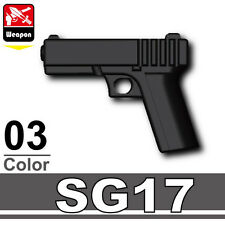 SG17 (W187) Pistol 9mm compatible with toy brick minifigures Army SWAT