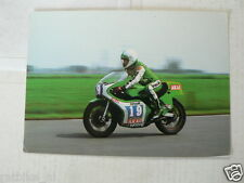 BARRY DITCHBURN KAWASAKI 350  NO 19 HODGE AKAI MOTO RACING POSTCARD MOTO73