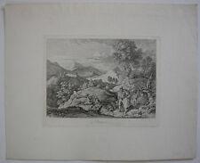 Ludwig Richter (1803-1884)  Olevano Italia Roma Orig Radierung 1831