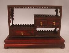 Hand Carved Chinese Miniature Rosewood Display Sideboard - Apprentice Furniture