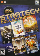 EA Strategy Collection PC Battle for Middle Earth Command Conquer Black White 2