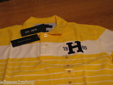 Men's Tommy Hilfiger Polo shirt small S slim fit 7827262 logo true yellow 731
