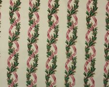"SCHUMACHER COLOMBE LAUREL CREAM D4049 FLORAL RIBBON VINE Fabric 3.75 YARDS 54""W"