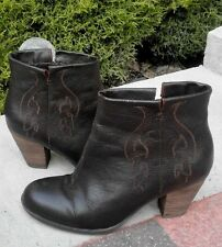Indigo Brown Leather Ankle Boots Size UK 6.5 EU 39