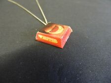 Silvertone Burger King Home of the Whopper Clamshell Pendant Necklace Hamburger