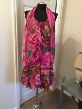 Ladies Pink Floral Dress - Size 10 - Boho Milanno