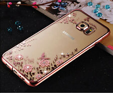 Luxury Crystal Flower Clear Back Case Cover For Samsung Galaxy Note 5 J3 J5 J7