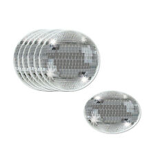 8 ct DISCO BALL 70's Fever Discotech DRINK COASTERS Birthday Party Decor Tablewa