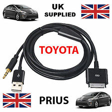 TOYOTA PRIUS iPhone, iPod reemplazo de cable USB y AUX 3.5mm en Negro