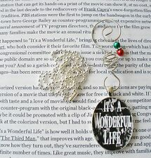 ITS A WONDERFUL LIFE MOVIE HOLLYWOOD HOLIDAY CHRISTMAS ORNAMENT PENDANT NECKLACE