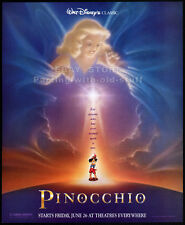 PINOCCHIO— Original 1992 Print AD movie promo__Walt Disney re-release_Tinkerbell