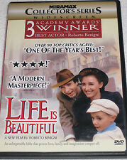 Life Is Beautiful (DVD, 1999, Collector's Edition) Roberto Benigni - Ships Fast
