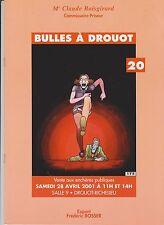 Catalogue Vente BD Bulles à Drouot 20. 28 avril 2001. Superbe