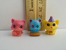 SQUINKIES Cats Party Hat Toys Mixed Lot WITHOUT CONTAINER