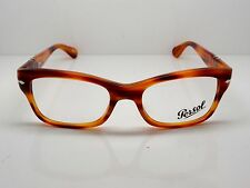 Authentic PERSOL 3054-V 960 Brown Stripe RX Eyeglasses 51mm w/ Case