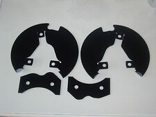 Triumph spitfire / herald stainless steel disc shields powder coated