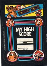 MY HIGH SCORE - Donkey Kong - Sticker -Nintendo 1982/Game & Watch/Arcade