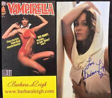 OFFICIAL WEBSITE Barbara Leigh VAMPIRELLA 11x6 (2 sided) Postcard AUTOGRAPHED