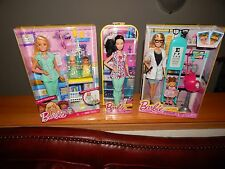 Barbie Doll Lot Baby Doctor Nurse and Eye Doctor for Winter Birthdays! $49.99