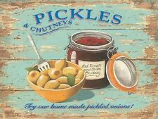 PICKLES & CHUTNEYS PICKLED ONIONS TOMATO WALL ART METAL SIGN TIN PLAQUE 740