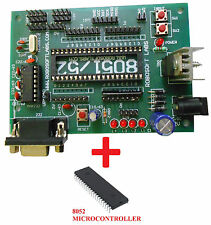 8051 / 8052 Development Board with AT89S52 (8052) and MAX232 IC's