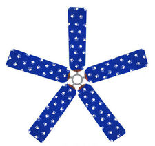 Ceiling Fan Blade FABRIC Cover PAW PRINTS pet cat dog home decor 5 decorative pc
