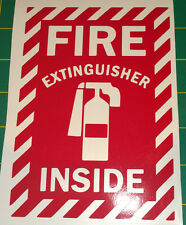 Fire Extinguisher Inside - Vinyl Decal for Jeep, Car, or Truck