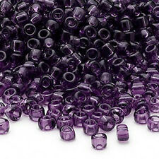 Lot of 200 Matsuno 6/0 Glass Seed Beads Shiny Transparent Colors Spacer Beads
