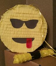 Cool Emoji Pinata filled with Sweets Birthday Party & Stick Can be personalised
