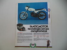 advertising Pubblicità 1982 MOTO FANTIC STRADA 125