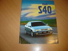 CATALOGUE Volvo S40 de 1998 Belgique