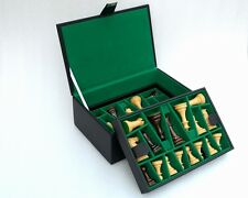 "Chess Set Storage Box with Double Tray Fixed Slots for 4"" - 4.25"" Pieces - S1269"