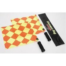 Cartasport Quality Delux Linesman Referee Flags Sticks Foam Handles With Case
