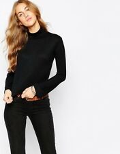 Pull&Bear Rib Roll Neck Jumper  (BLACK) RRP £15.99