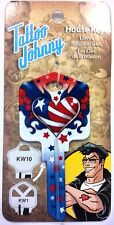 (Limited Edition)  Tattoo Johnny USA Heart House Key Fits KW1, KW10