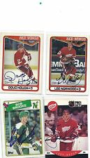 1990-91 OPC # 285 Lee Norwood Autographed / Signed Card Detroit Red Wings