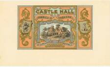 Castle Hall  original vintage unused  cigar box label