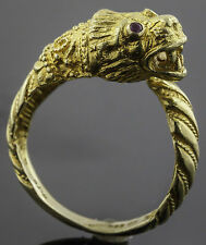 Ilias Lalaou 18K Gold Dragon Ring with Rubies